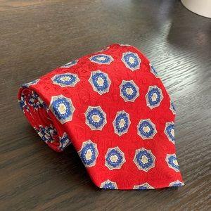 Robert Talbott Red Tie with Patterning